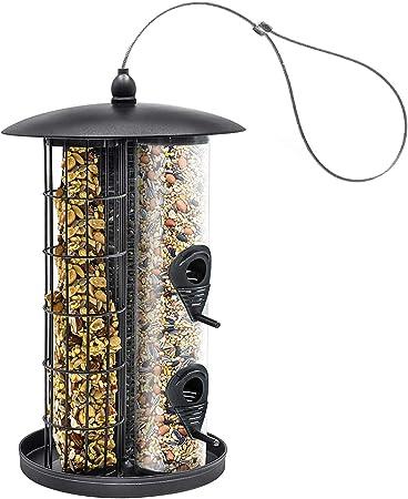 More Birds Metal Seed Bird Feeder