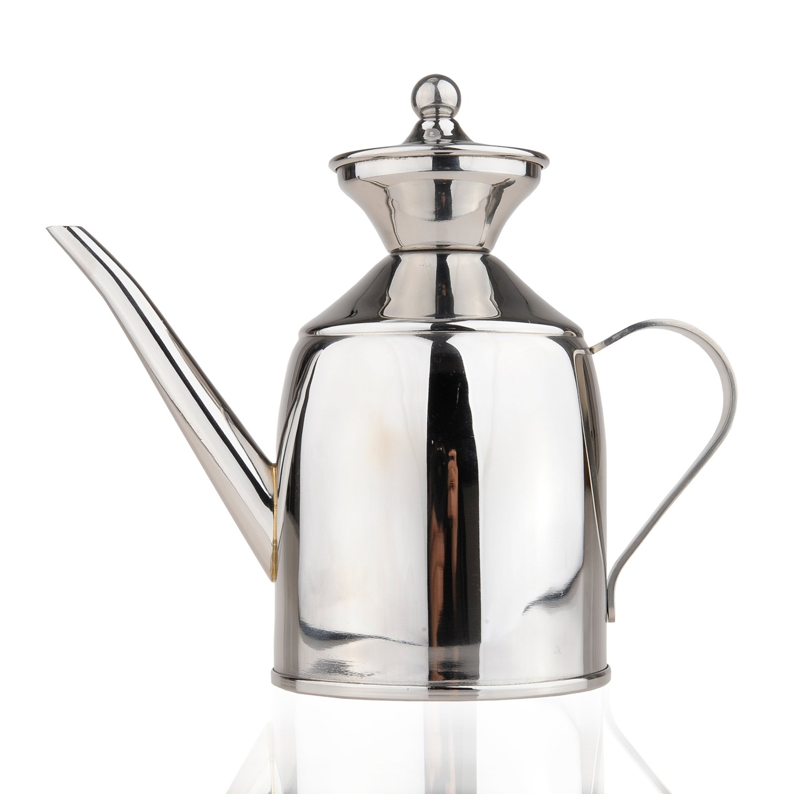 Fladess Stainless Steel Oil Can Vinegar Pot Bottle Container Storage Leak-proof (500ml)