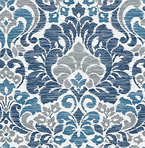 Blue Garden Wallpaper - A-Street Prints 2793-24731 Garden of Eden Damask Wallpaper, Blue