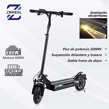 ZWheel Patinete Electrico T4 ZRino 25 km/h 600W: Amazon.es ...
