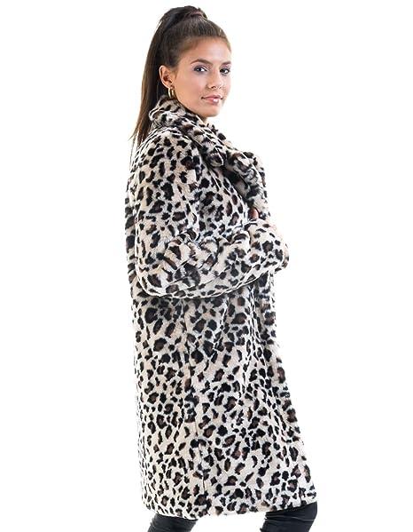 la mejor actitud c3e12 db51d Vila Abrigo Pelo Leopardo Clothes (Leopardo - 34): Amazon.es ...