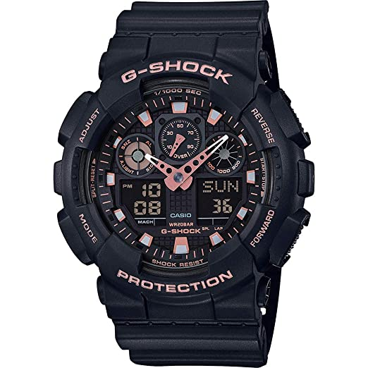 Casio Reloj Analogico-Digital para Hombre de Cuarzo con Correa en Resina GA-100GBX-1A4ER: Amazon.es: Relojes