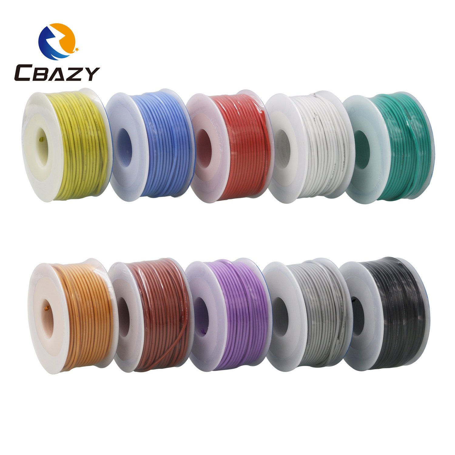 CBAZY™ Hook up Wire (Stranded Wire) 22 Gauge Flexible Silicone Wire 22AWG 25M (82 Feet) Electrical Wire Green by CBAZY (Image #7)