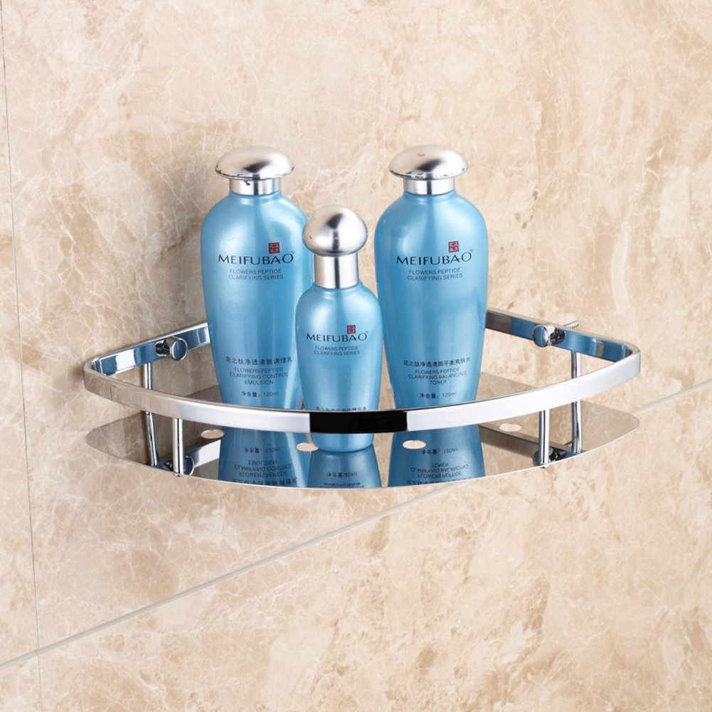 cheap Stainless steel corner shelf/ bath triangle/ bathroom double ...