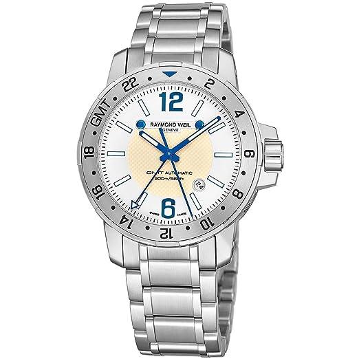 Raymond Weil Nabucco GMT Reloj de Hombre automático 44mm 3800-ST05657: Amazon.es: Relojes