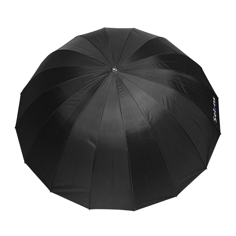 Selens 65 Inch 16 Rods Professional Photography Photo Studio Parabolic Reflective Lighting Umbrella, 23 Inch Depth Black/Silver by Selens (Image #9)