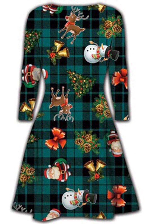 Oops Outlet Damen Kurzes Kleid Weihnachten Bäume Weihnachten Santa ...