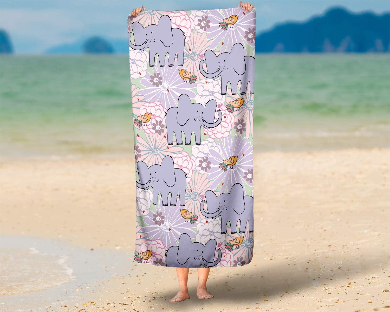 Elefante 70x140 cm LimeWorks Telo Bagno per Bambini