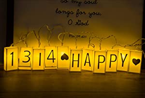 ALHXF LED Letter Light Box Rope Lights (78.7in 20led) Outdoor String Lights Happy Birthday Banner Birthday Holiday Decoration Battery Powered Box String Lights