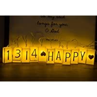 ALHXF LED Letter Light Box Rope Lights(59in 10led) Outdoor String Lights Happy Birthday Banner Birthday Holiday…