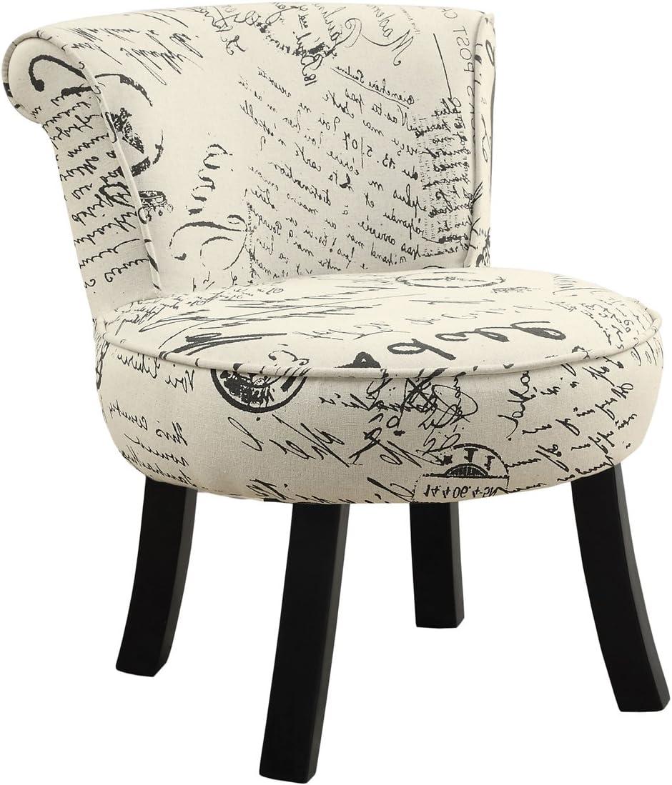 Monarch Juvenile Chair, Off-White Black