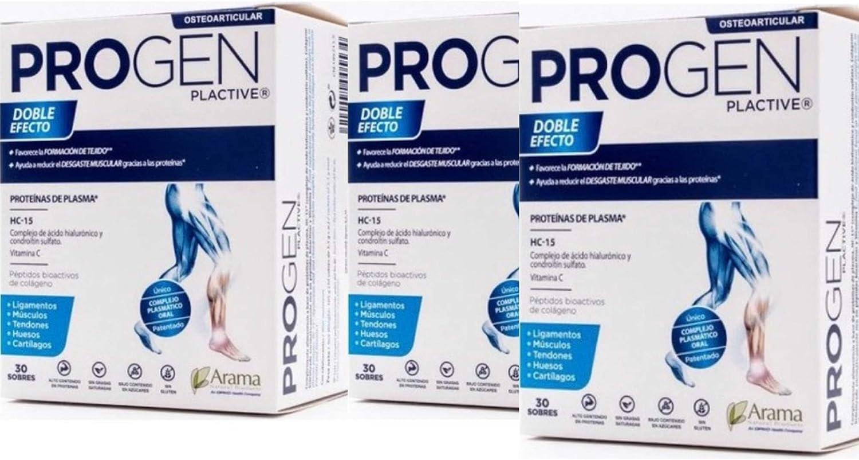 Progen plactive 90 sobres (3 cajas de 30: Amazon.es: Salud y ...