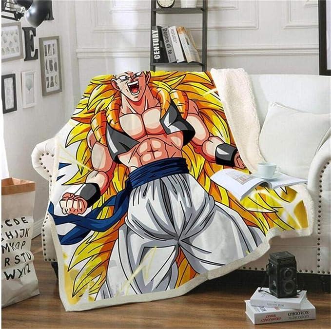 200 Cm TTLDB Mantas para Cama Manta 3D Anime Dragon Ball Goku Manta De Moda Ropa De Cama De Impresi/ón Suave Y C/álida Cama Cubierta De Producto Manta A 150