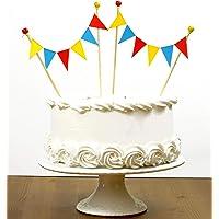 Amazing Buntings 128 - Decoración para tarta, rojo