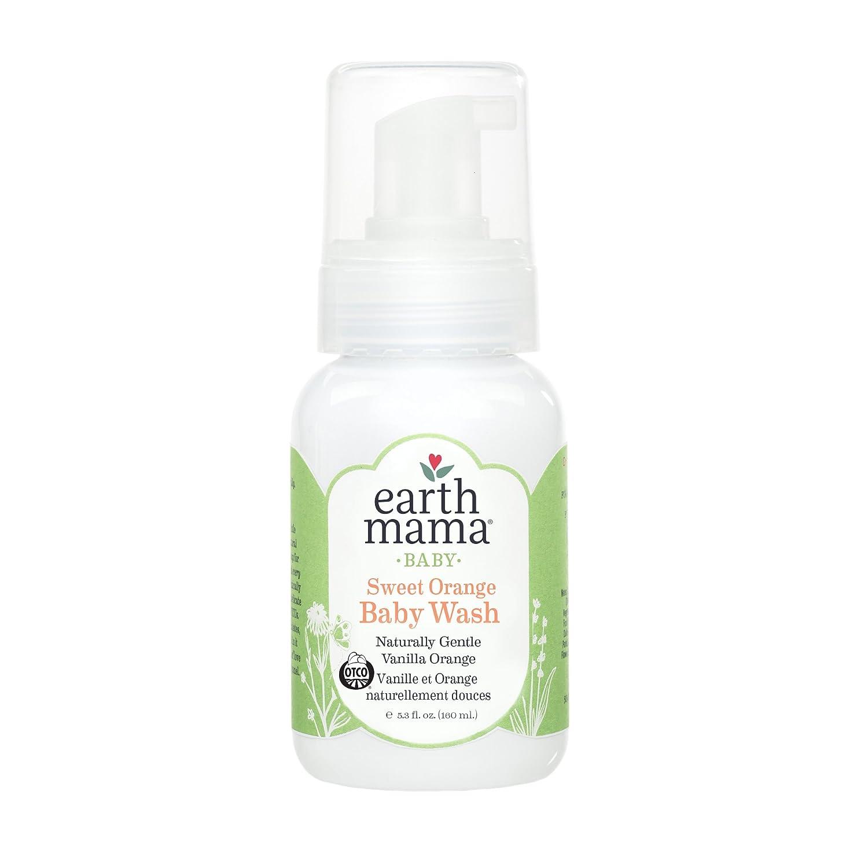 Earth Mama Sweet Orange Baby Wash Gentle Castile Soap for Sensitive Skin, 5.3-Ounce Earth Mama Angel Baby 10-055