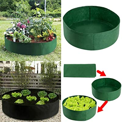 Coohole Raised Plant Bed Round Plant Grow Bag Planter Pot Breathable for Plants, Flower, Elevated, Vegetables Nursery Indoor & Outdoor & Garden and Planting Grow: Home & Kitchen