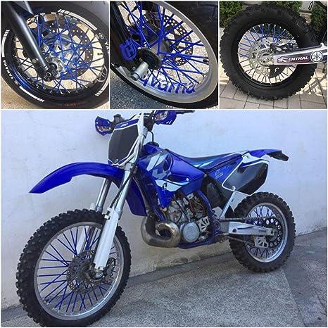 D DOLITY 36 Pcs Motorcycle Spoke Covers Coats Universal Fit for 19-21 inch Rims Dirt Bike Black