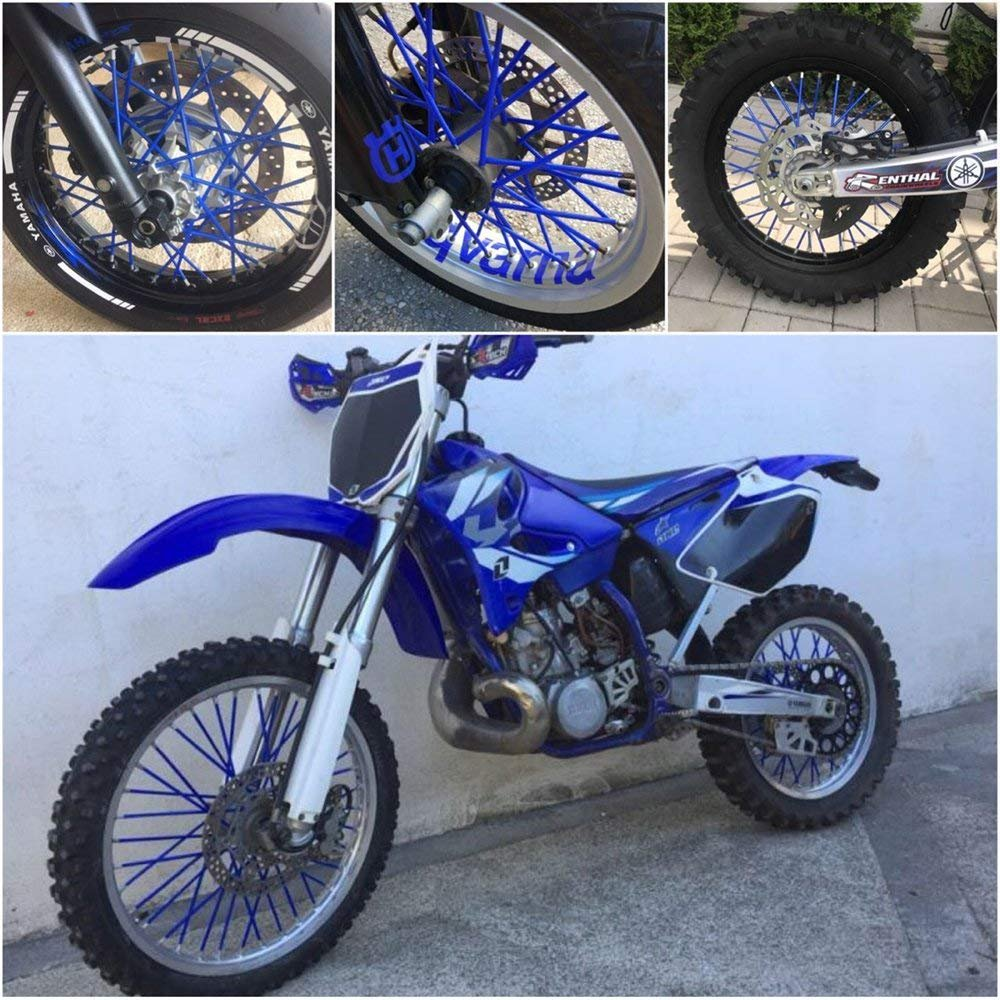 72 Pcs Orange Motocross Dirt Bike Rayon Peaux pour Jantes 19-21 Roue Rim Spoke Covers Protect pour KTM SX65 SXF 350 SX125 XCW 150 XC W 200 SMR450 SX350 SXF400 SXS450 Bike Pit Dirt