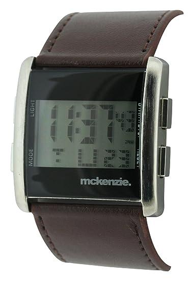 Mckenzie MCK12/A - Reloj digital para hombre, correa de poliuretano color marrón: Amazon.es: Relojes