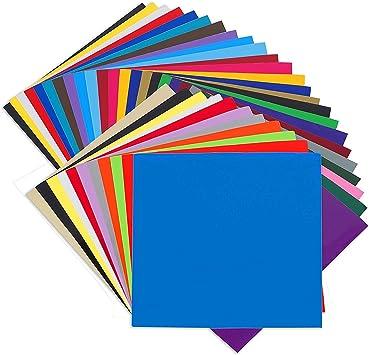 "35 Adhesive Adhesive Vinyl Sheets Craft 12/"" x 12/"" for Cricut"