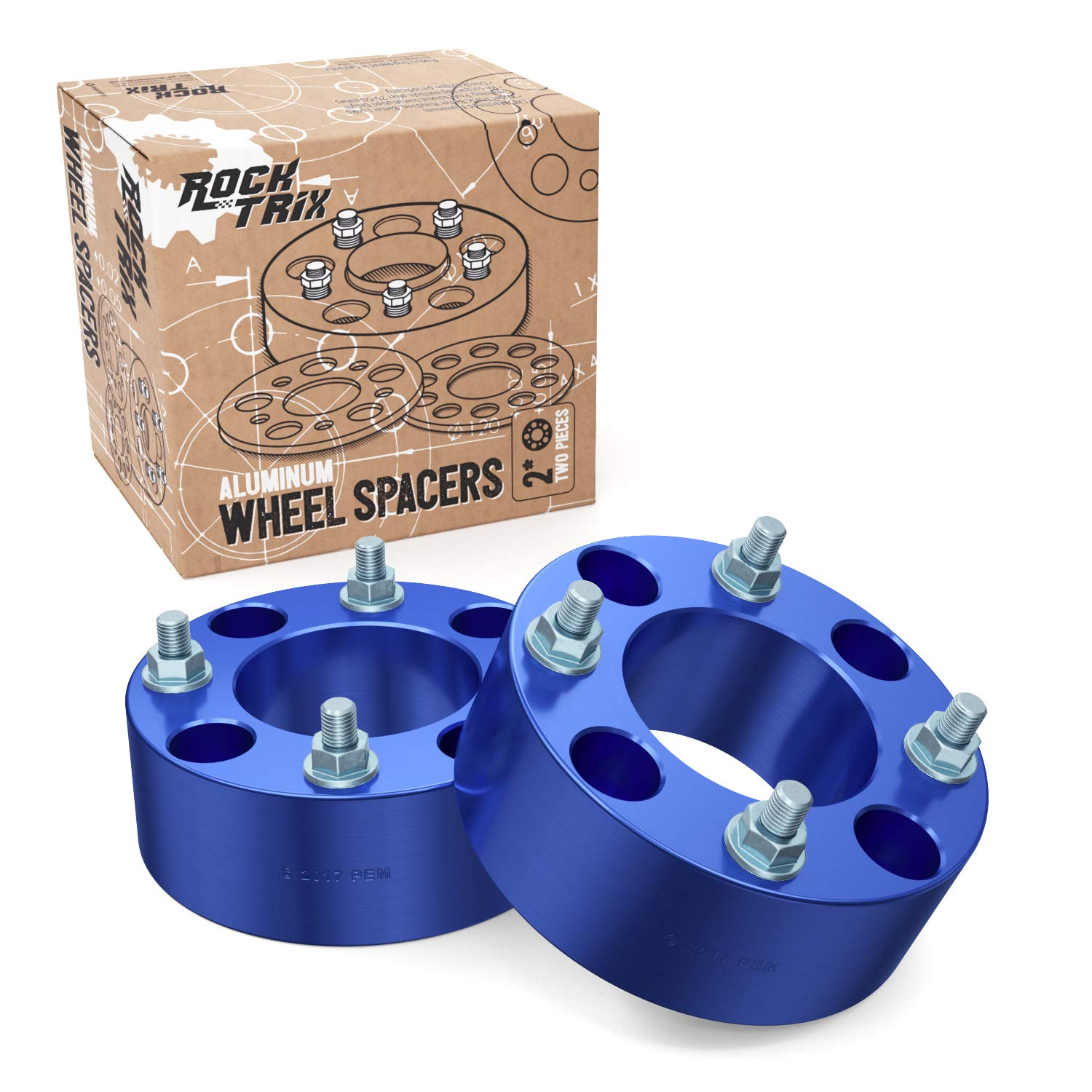 RockTrix for Precision European - 2pc Blue 1.5' Thick ATV 4x110 Wheel Spacers with 10x1.25 Studs Nuts for many Honda Yamaha Kawasaki Suzuki (Verify Specific Year/Make/Model in Description) 4/110 V1 Precision European Motorwerks 4333425837