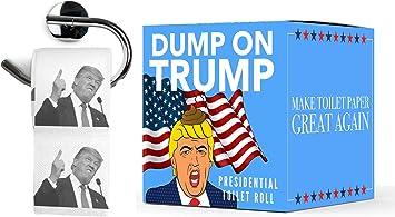 Papel Higiénico Donald Trump | Dump on Trump Toilet Paper | WC Rollo Broma: Amazon.es: Juguetes y juegos