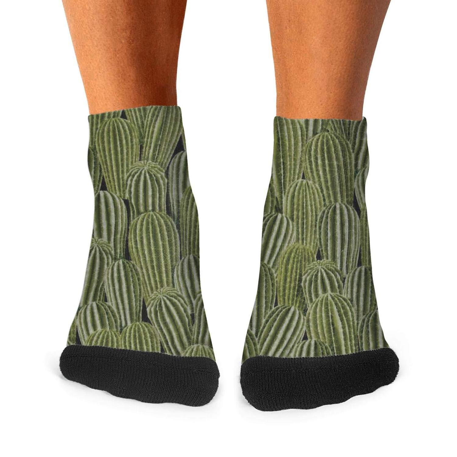Mens athletic low cut Ankle sock real cactus cacti Short Outdoor Sock