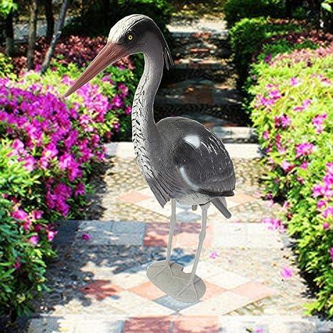 ALVQW - Esculturas de jardín diseño de Heron erogro, espantapájaros, estanques, Carpa de koi, Protege Las Manualidades de jardín: Amazon.es: Jardín