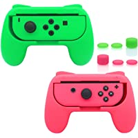 FASTSNAIL Grips Compatible with Nintendo Switch for Joy Con & OLED Model for Joycon, Wear-Resistant Handle Kit…