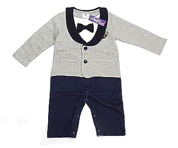 0a53fedabe87b (i-loop) ベビー服 スーツ風 ロンパース 赤ちゃん カバーオール 新生児 長袖 春秋着 子供