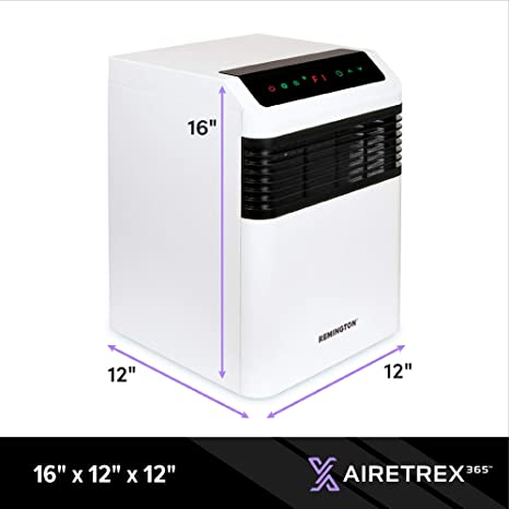 Amazon Com Remington Rem 7365uv 120 Airetrex 365 Air Sanitizer With Powerful Uv C Technology To Stop Airborne Pathogens Perfect For Home And Office Safe For Children And Pets Home Improvement