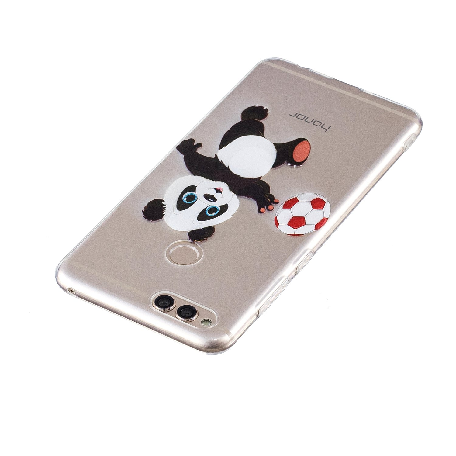 Coque Huawei Y5 2017 Y6 2017 YYX Huawei Y5 2017 Housse Etui Ultra Mince TPU Silicone Coque Cristal Transparent Gel Clair Silicone Back Cover Bonjour panda