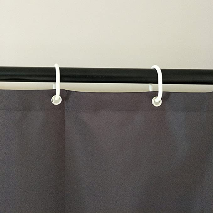 Eforcurtain Heavy Duty Solid Shower Curtain Fabric Waterproof And