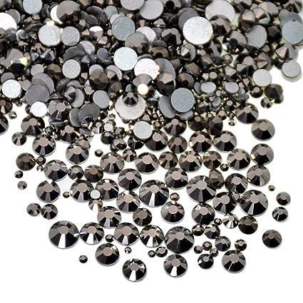 cc9a8e4b2f86 Amazon.com  AD Beads 1440pcs Mixed Size Non Hotfix Quality ...