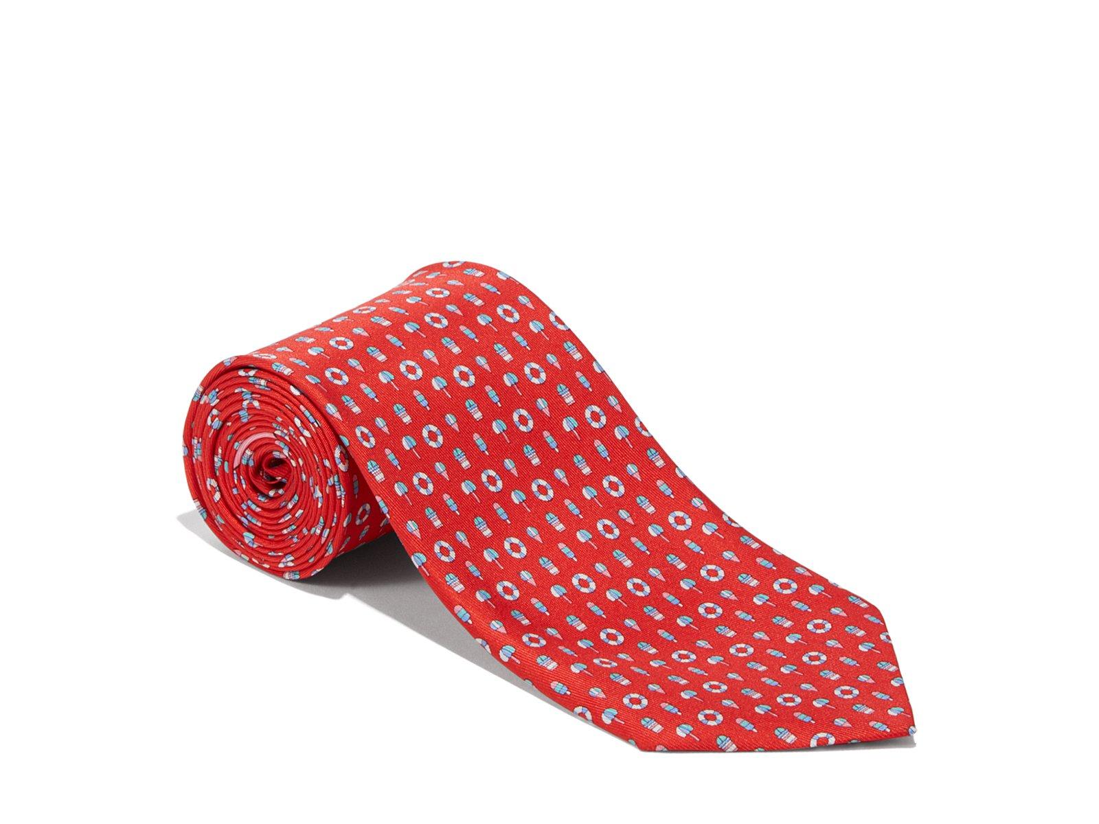 Salvatore Ferragamo Men's Red Buoy and LifeSaver Silk Neck Tie by Salvatore Ferragamo