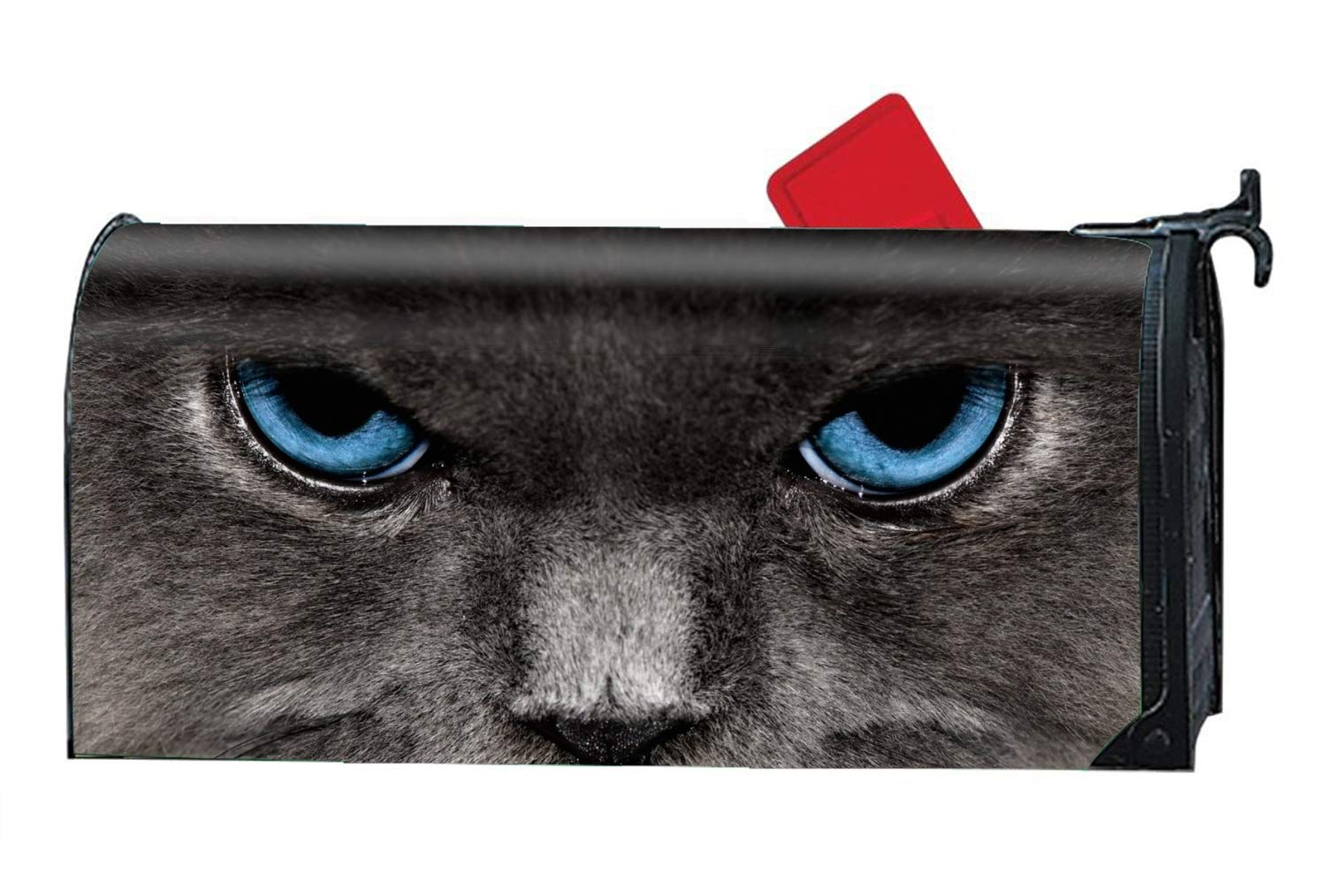 MAILL Animal Cats Magnetic Mailbox Cover - America Themed, Decorative Vintage Vinyl Mailbox Wrap for Standard Size by MAILL