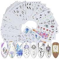 Kanggest.40 Hojas Arte de uñas Pegatinas Conjunto Etiquetas