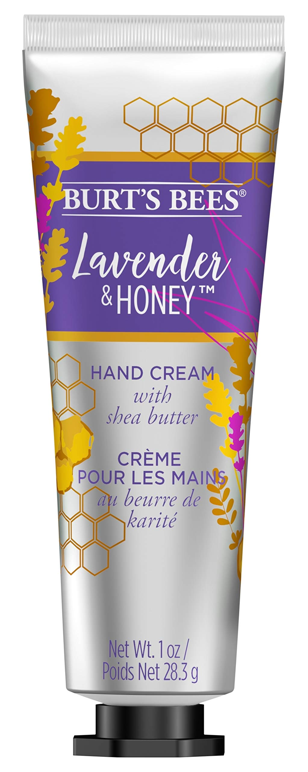 Burts Bees Lavender & Honey Hand Cream with Shea Butter, 1 Oz (Package May Vary)