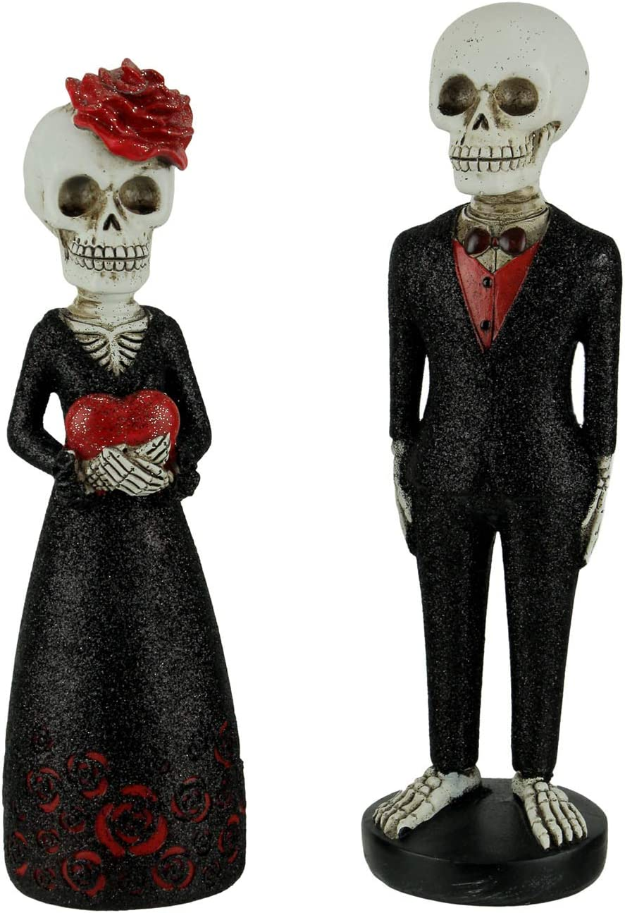 Transpac Dead Fancy Esqueleto Pareja en Negro Brillante Formal ...