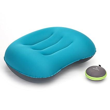 Almohada inflable ultraligera de viaje Naturehike, cómoda y portátil para senderismo, camping, picnic y deportes al aire libre