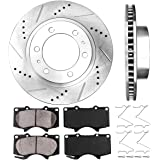 Callahan CDS02017 FRONT 319 mm Premium D/S 6 Lug [2] Brake Rotors + Pads + Clips [fit Toyota 4Runner FJ Cruiser Tacoma]
