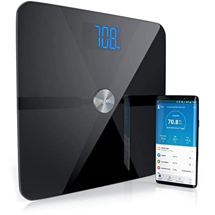 Mybeo - Bluetooth Bascula Grasa Corporal + App | iOS y Android | Determinación del IMC