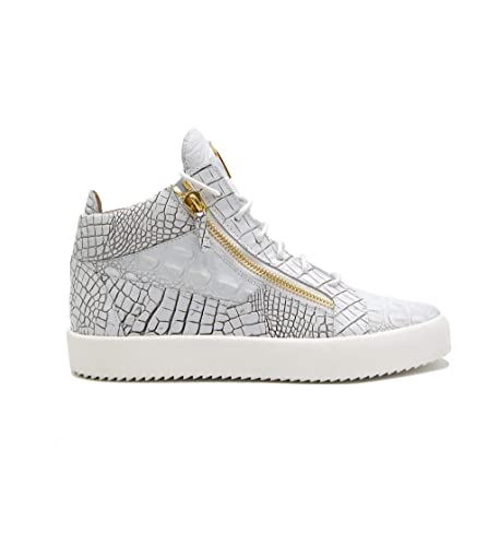 9c5da65700fad Image Unavailable. Image not available for. Color: Giuseppe Zanotti Design  Men's Ru70009064 White Leather Hi Top Sneakers