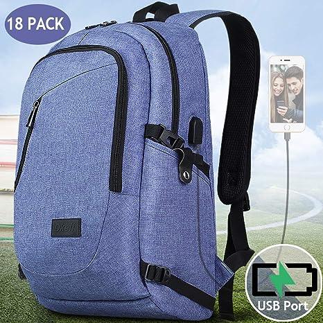 18 Pcs Laptop Backpack, School Backpack for Women Men School Computer Book  College Laptop Bag 4ff27c902c