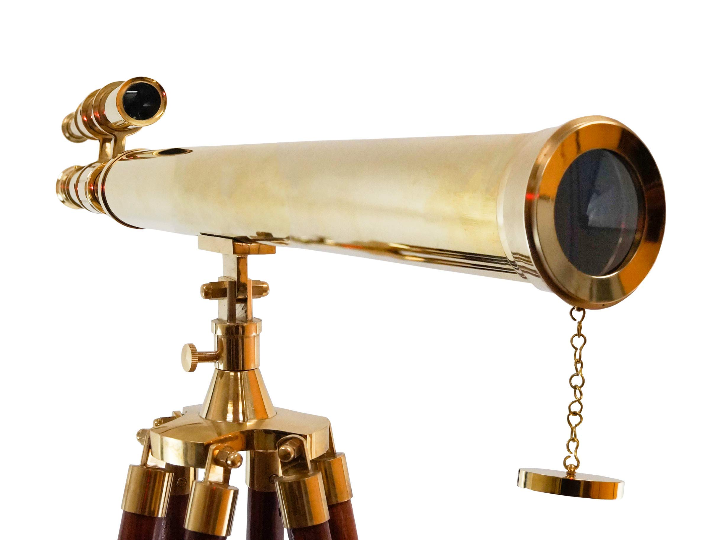 Nautical Collection's 64'' Decorative Floor Standing Tripod Brass Telescope Adjustable Size Sky Watcher (Griffith Astro Telescope)