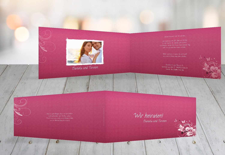 Kartenparadies Hochzeitskarte Hochzeit Einladung Din Liebeswunder, hochwertige Einladung zur Heirat inklusive Umschläge   10 Karten - (Format  215x105 mm) Farbe  RosaRosa B01NCXXQHB | Moderate Kosten  | Abgabepreis  | Zuverlässiger Ruf