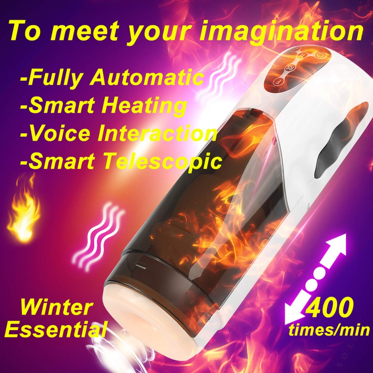 Massage Toys Artificial Piston Male Ma^ssagér Intelligent Heating Telescopic Funny Machine Girl Funny Funny Toys for Men IUEJNF Tshirt