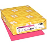 "Astrobrights Colored Cardstock, 8.5"" x 11"", 65 lb/176 gsm, Plasma Pink, 250 Sheets (22129)"