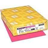 "Astrobrights Colored Cardstock, 8.5"" x 11"", 65 lb/176 gsm, Plasma Pink, 250 Sheets (22129)"
