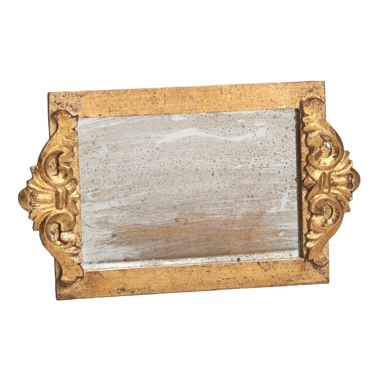 Amazon: Abigails Mirror Vanity Decorative Tray, Silver Antiqued: Home &  Kitchen